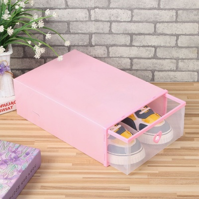 슈즈온 서랍형 신발정리함 대 핑크 DIY 슈케이스