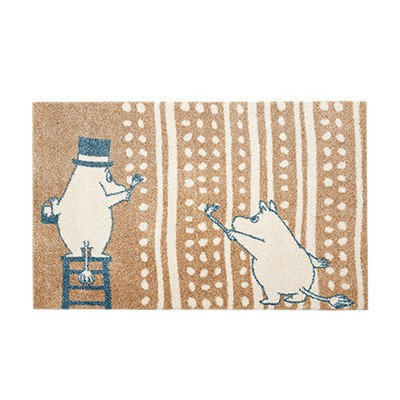 러그 moomin rug painting gold
