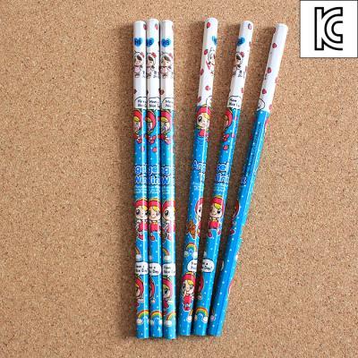 (와인앤쿡)6p 팬시 HB 연필 1개