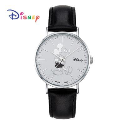 Disney 월트디즈니 미키 가죽시계 OW-8140BWH