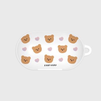 Dot love and bear-white(Buds hard case)