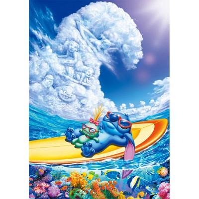 [텐요] 직소퍼즐 / 1000조각 / 디즈니 시리즈 - 서핑 파라다이스 / 헥사크롬인쇄 / D-1000-333 / 일본직수입 / 무료배송