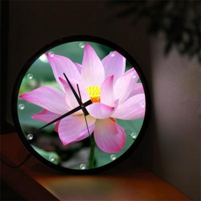 nf370-LED시계액자35R_풍수신비로운연꽃