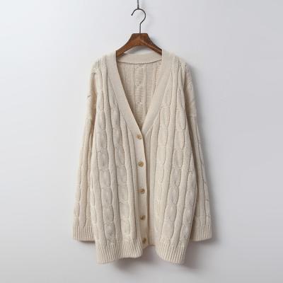 Cashmere N Wool Twist Cardigan