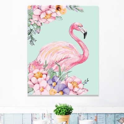 DIY 명화그리기 [ 꽃과 플라밍고 ] - 40cm*50cm
