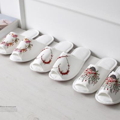 [2HOT] 꽃자수 슬리퍼