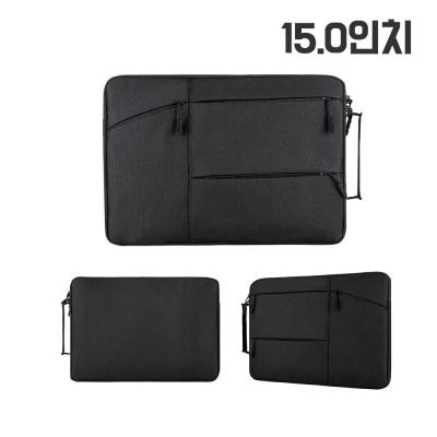 다용도 서류 노트북 태블릿 파우치 가방 15.0 블랙