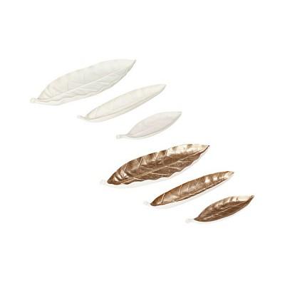 [Hubsch]Tray, feather, ceramics s/3 트레이