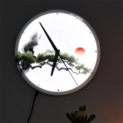 nf227-LED시계액자25R_풍수소나무그림