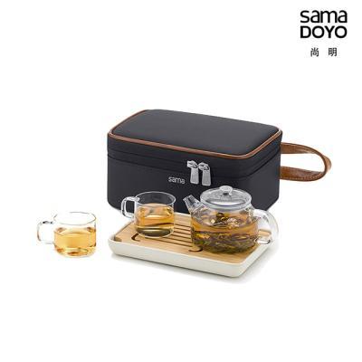 사마글라스 휴대용 티포트 티세트 (2인용) L009