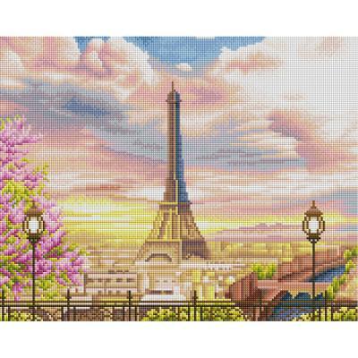 봄의 에펠탑 (캔버스형) 보석십자수 40x50