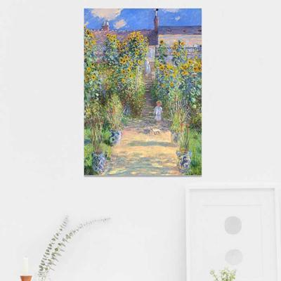 주문제작 액자 Monet  베퇴유의 예술가 정원