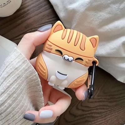 에어팟 1/2/3/프로 커플 고양이 실리콘 키링 케이스
