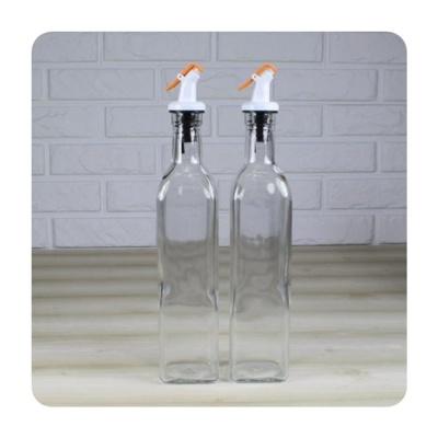 시노글라스 오렌지 오일병 중 2p 소스 소금 후추통