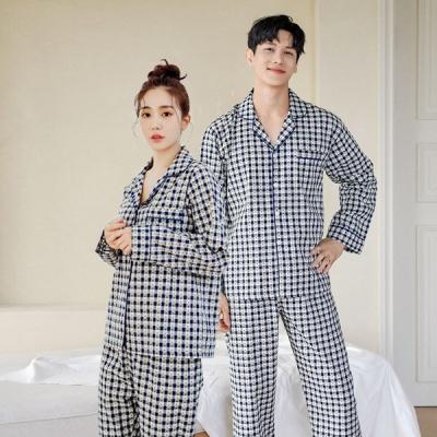 [쿠비카]플라워 자수 모티브 투피스 커플잠옷 WM268