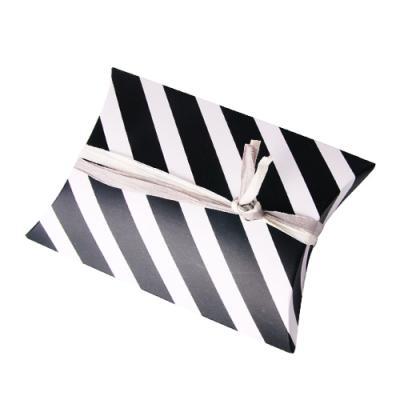 모던블랙 스트라이프 반달 상자 소 (2개)