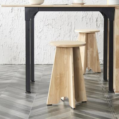 스토리홈 고무나무 원목 의자