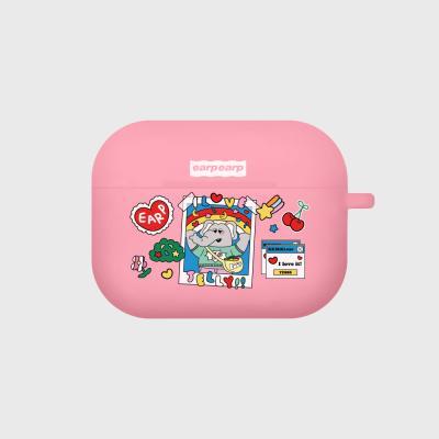 kkikki love jelly-pink(Air pods pro case)