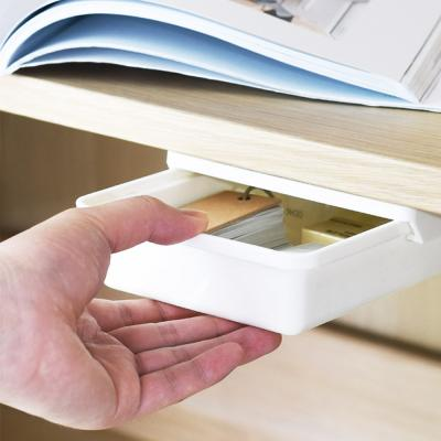 부착식 슬라이딩 책상 소품 서랍 수납 정리함 (소형)