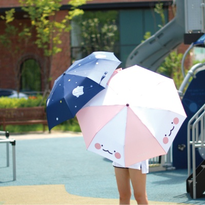 익명이 3단 핑크 우산
