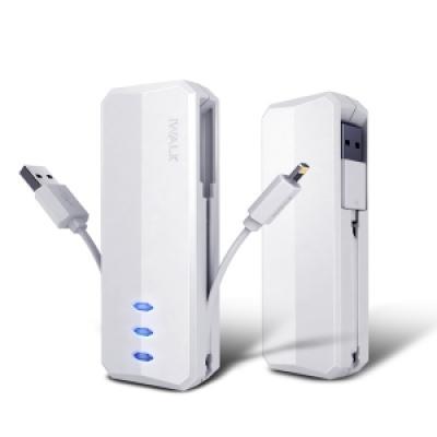 아이워크 보조배터리 슈프림 3000L 케이블일체형 아이폰5/5s/6/6+/7