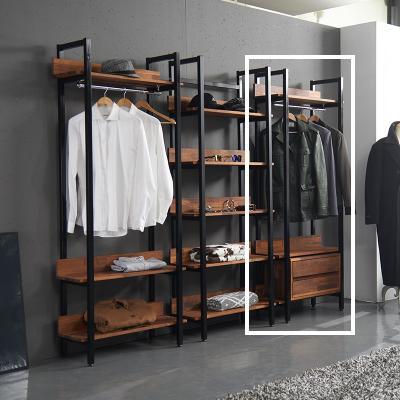 바모 멀바우 드레스룸 2서랍 옷장 800