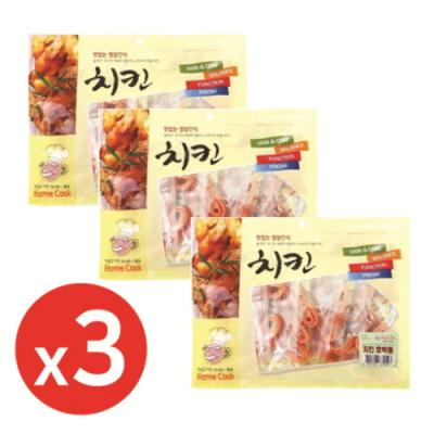 홈쿡(400g) 치킨 영양호박롤x3개 강아지간식