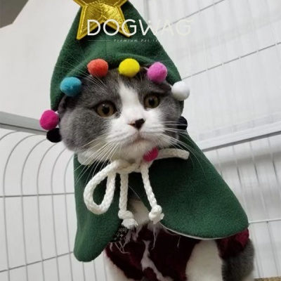 빅스타 폼폼이 망토 크리스마스 강아지 고양이 케이프