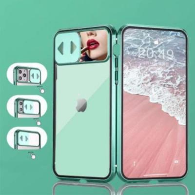 아이폰11 promax 슬라이드 미러 자석 메탈 하드케이스
