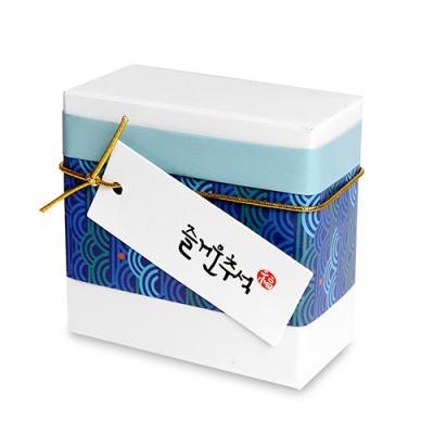 구름 즐거운 추석 직사각 [텍] (10개)