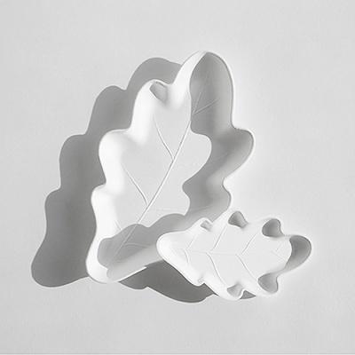 오크잎접시M 기프트팩-4P (생분해접시 / 플러스네이처Oak Leaf)