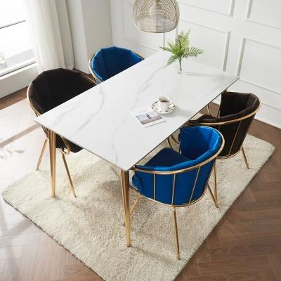 캘리 세라믹 마블 골드 식탁 세트 1800 + 의자 4개포
