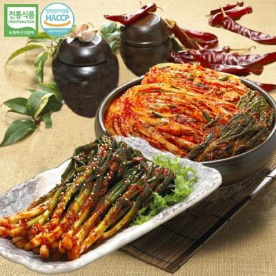 [명가김치] 국내산 포기김치 3kg+파김치 3kg
