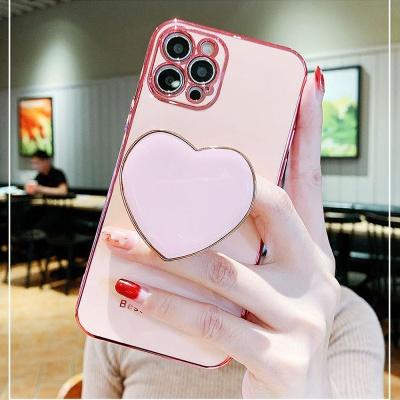 아이폰12 미니 pro max 레진 하트 그립톡 슬림 케이스