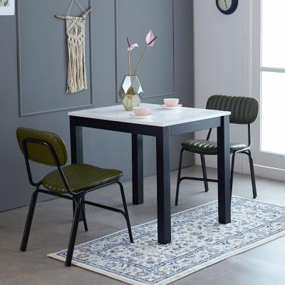 [리비니아]고광택 하이그로시 블랑 2인용 식탁세트