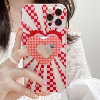 아이폰 12 11 pro max 미러 그립톡 세트 젤리 케이스