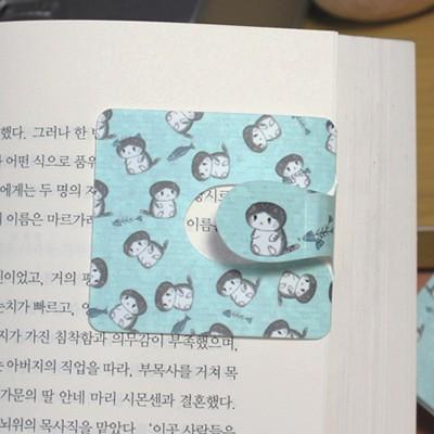 [플라스틱&자석 자동책갈피수지인] 봉고(민트)