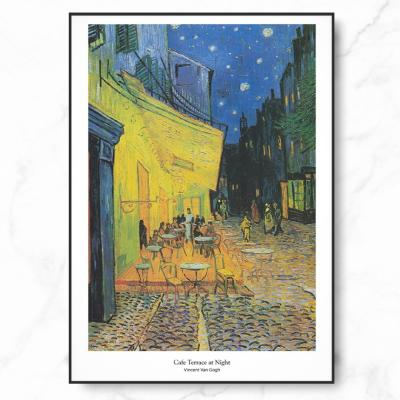 인테리어 명화 캔버스 액자 포스터 반 고흐 아를르의 포룸 광장의 카페 테라스