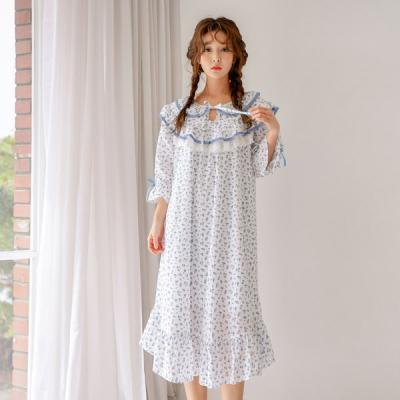 [쿠비카]러블리 7부소매 리본 원피스 여성잠옷 W433
