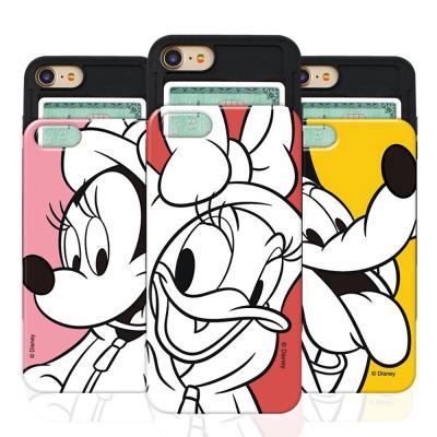 디즈니 드레스 슬라이드 카드범퍼 스마트폰 케이스