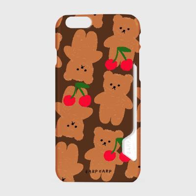 Dot cherry big bear-brown(카드수납케이스)