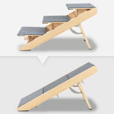 [딩동펫] 애견 원목 투웨이 접이식 계단 스텝