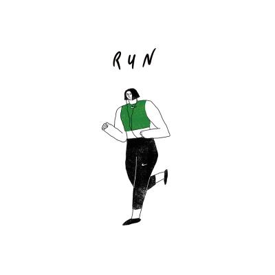 달리기 / 일러스트 액자