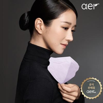 [아에르] 프로 컬러마스크 네이비 10매(방진2급)