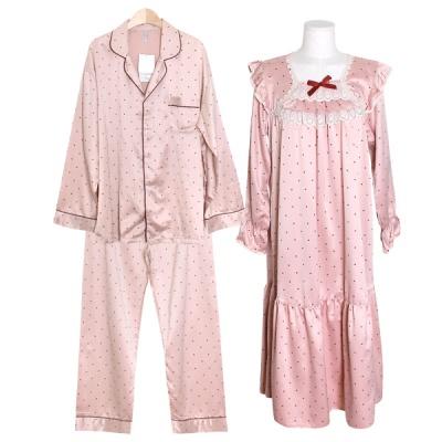 [쿠비카]심플한 도트 고퀄리트 원피스 커플잠옷 WM301