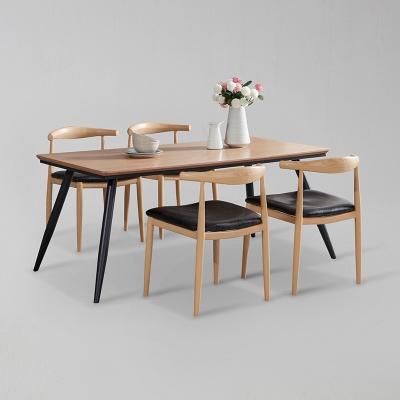 쿠니 무늬목 식탁 세트B 1400 + 의자 4개포함 (착불)
