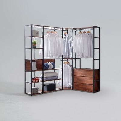 도이츠 철제 드레스룸 코너형 선반 옷장 풀세트 A형 (