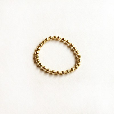 14k gold big dot ring