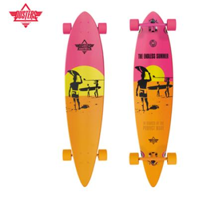 [DUSTERS] 42 ENDLESS SUMMER 콜라보 X YEL/ORG/PINK X PINTAIL LONGBOARD COMPLETE