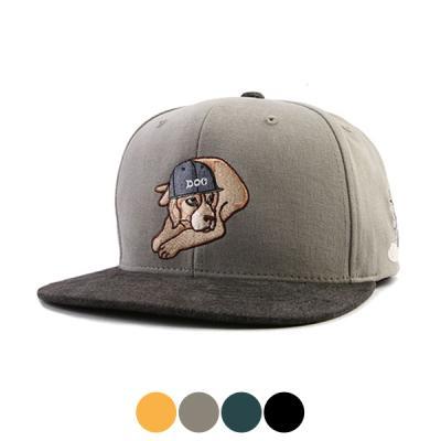 [디꾸보]DOG 자수 배색 챙 스냅백 모자 HN328